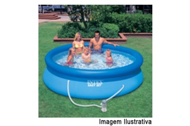 Piscina Easy Set 2.420 Litros com Vídeo & Bomba Filtro 120v Ref. 56971 - Intex