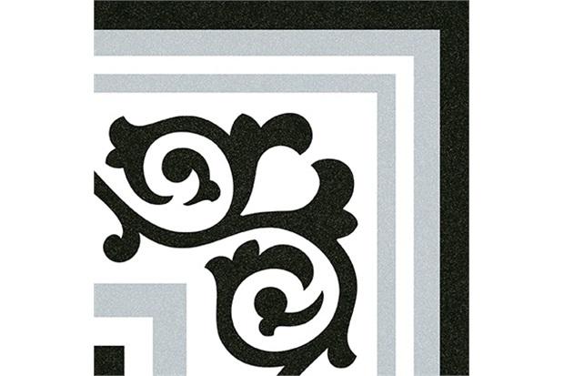 Piso Acetinado Cinza E Preto 20x20cm - Colormix