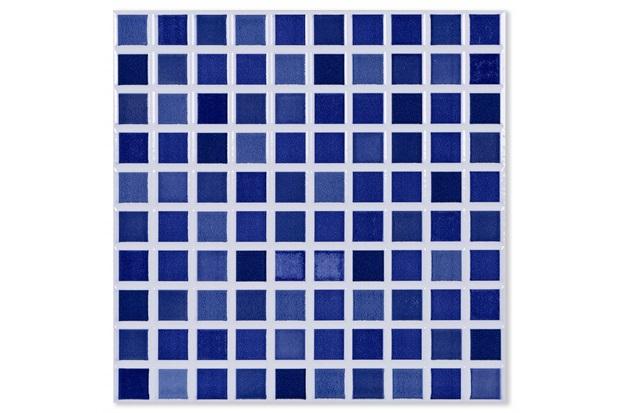 Piso Cerâmico Brilhante Borda Bold Riviera Azul 25x25cm - Porto Ferreira