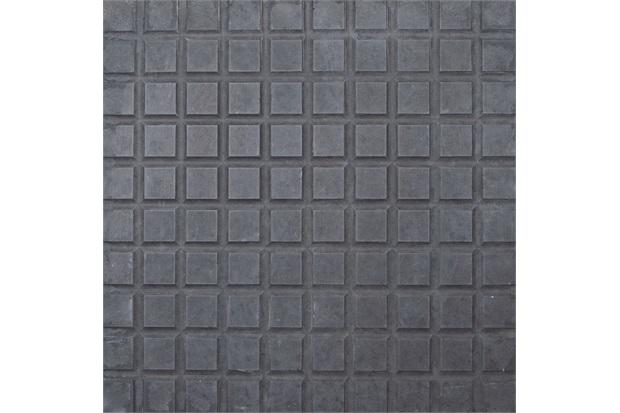 Piso Cimentício Rústico Borda Reta Status 100 Quadros Preto 32x32cm - Cimartex