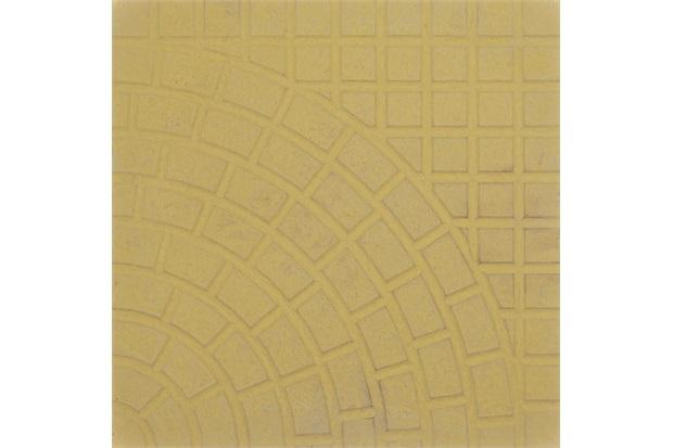 Piso Cimentício Rústico Borda Reta Status Romano Amarelo 32x32cm - Cimartex