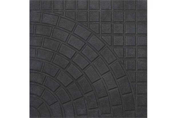 Piso Cimentício Rústico Borda Reta Status Romano Preto 32x32cm - Cimartex