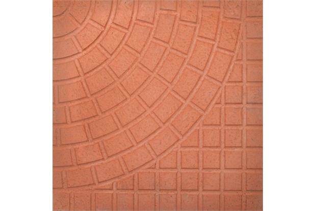 Piso Cimentício Rústico Borda Reta Status Romano Vermelho 32x32cm - Cimartex