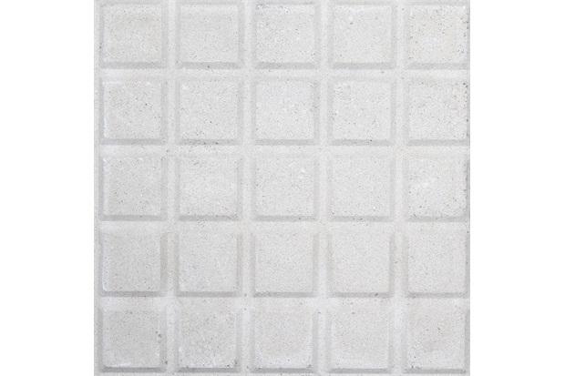 Piso Cimentício Rústico Borda Reta Suvial 25 Quadros Branco 20x20cm - Cimartex