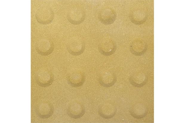 Piso Cimentício Rústico Borda Reta Suvial Podotátil Alerta Amarelo 20x20cm - Cimartex