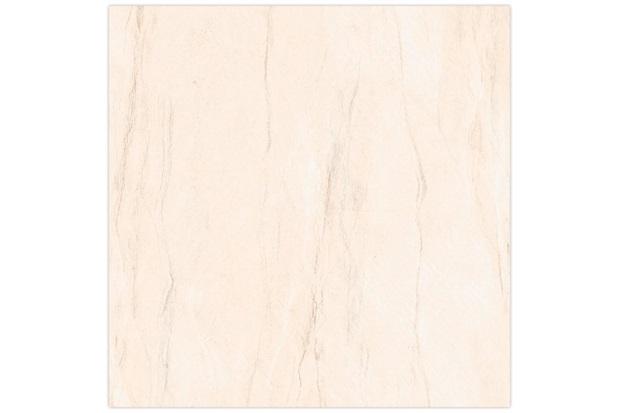 Piso Esmaltado Brilhante Borda Bold Design Mármore Branco 45x45cm - Incefra