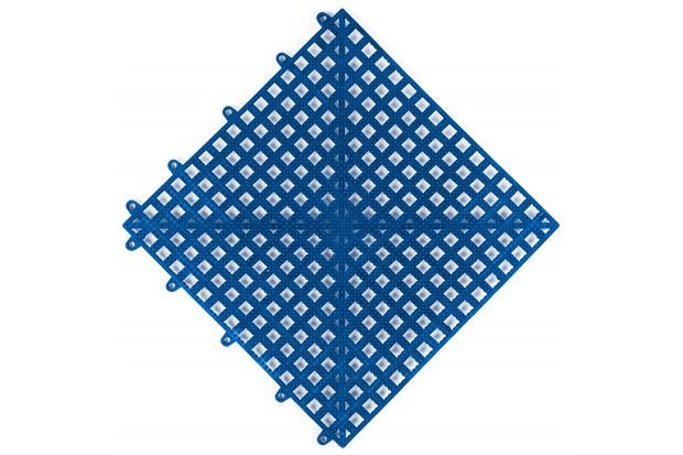 Piso Flexível Modular em Pvc Flex 30x30cm Azul - Impallets