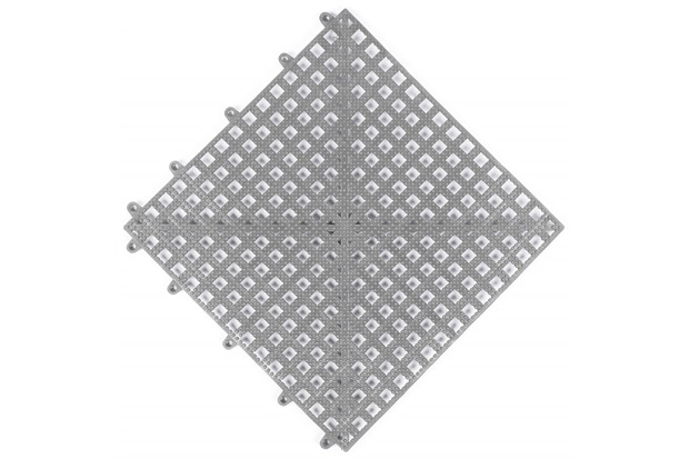 Piso Flexível Modular em Pvc Flex 30x30cm Cinza - Impallets