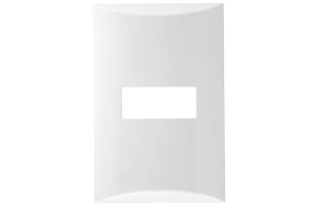 Placa 4''X2'' para 1 Módulo Brava Branca - Iriel