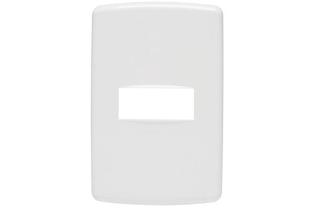 Placa 4''X2'' para 1 Módulo Duale Up Branca - Iriel