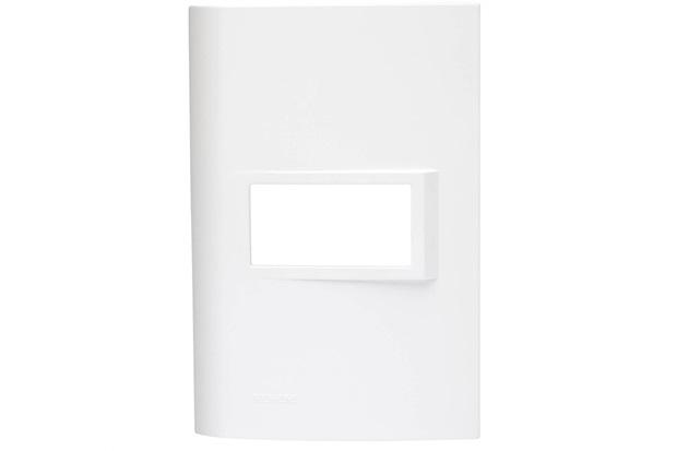 Placa 4''X2'' para 1 Módulo Vivace Branca - Iriel
