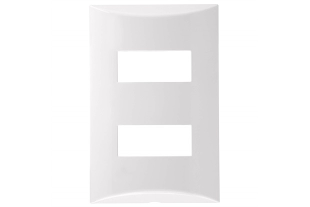 Placa 4''X2'' para 2 Módulos Brava Branca - Iriel