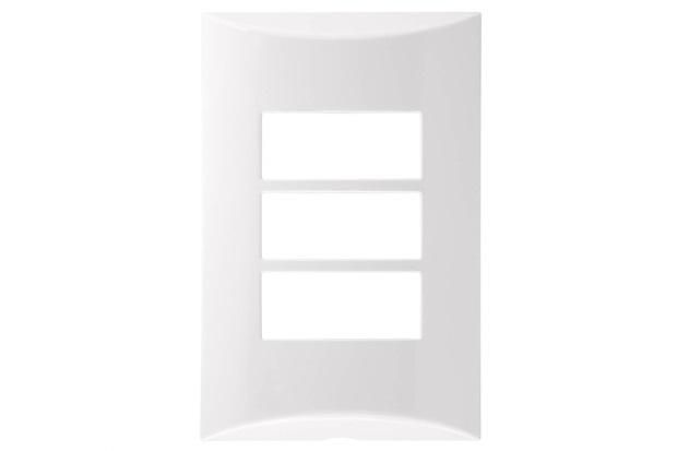 Placa 4''X2'' para 3 Módulos Brava Branca - Iriel