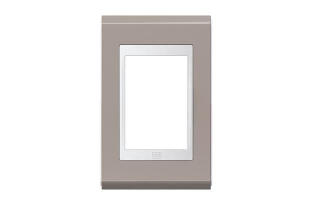 Placa 4''X2'' para 3 Módulos Refinatto Concept Grafite E Branco - WEG