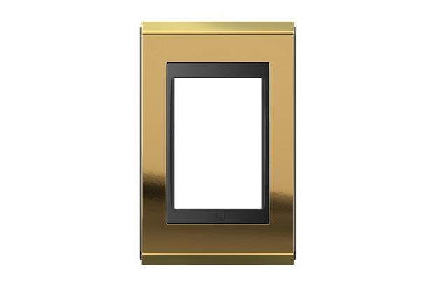 Placa 4''X2'' para 3 Módulos Refinatto Concept Ouro E Preto - WEG