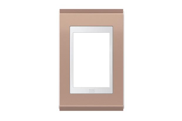 Placa 4''X2'' para 3 Módulos Refinatto Concept Rosê E Branco - WEG
