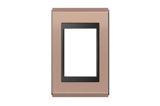 Placa 4''X2'' para 3 Módulos Refinatto Concept Rosê E Preto - WEG