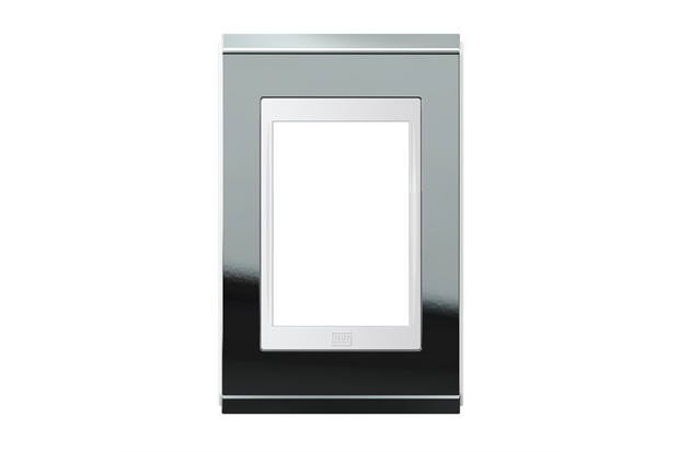 Placa 4''X2'' para 3 Módulos Refinatto Concept Titânio E Branco - WEG