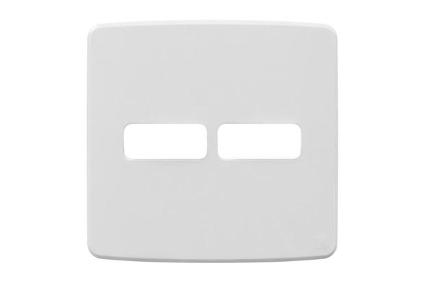 Placa 4''X4'' para 2 Módulos Compose Branca - WEG