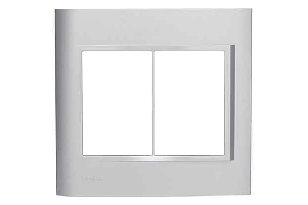 Placa 4''X4'' para 6 Módulos Vivace Alumínio - Siemens