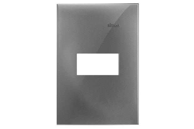 Placa 4x2 1 Posto Horizontal Simon 35 Alumínio - Simon