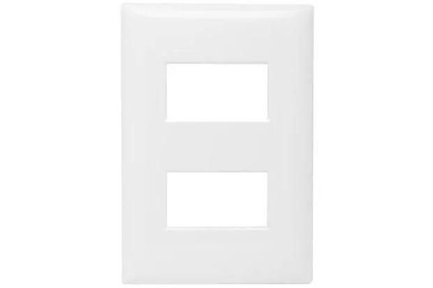 Placa 4x2 para 2 Módulos Thesi Up Branca M5p2 - BTicino