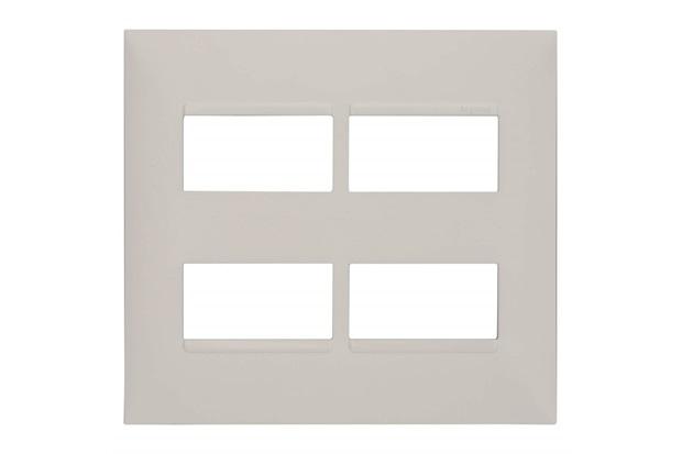 Placa 4x4 2+2 Postos Separados Plusmais Branca - Pial Legrand
