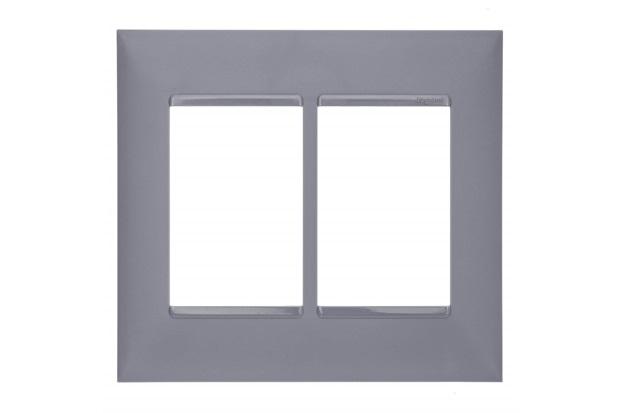 Placa 4x4 3+3 Postos Plusmais Cinza - Pial Legrand