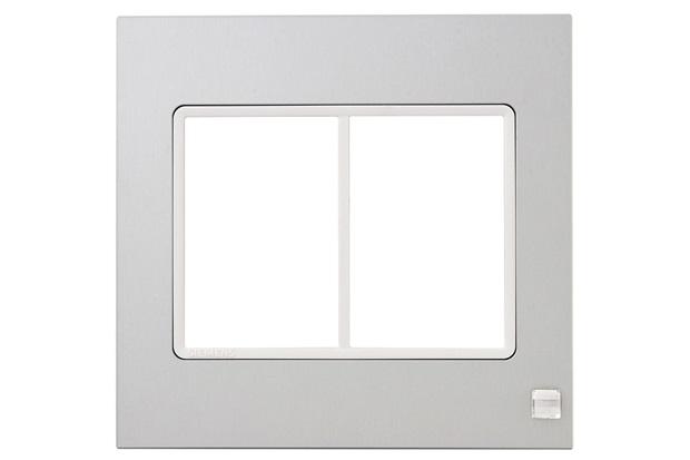 Placa 4x4 6 Postos Delta Mondo Lx Platinum Crystal - Siemens