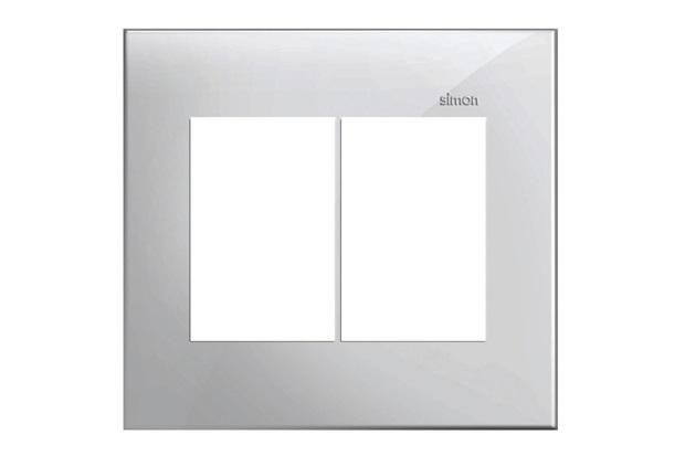 Placa 4x4 6 Postos Horizontais Simon 35 Branco - Simon