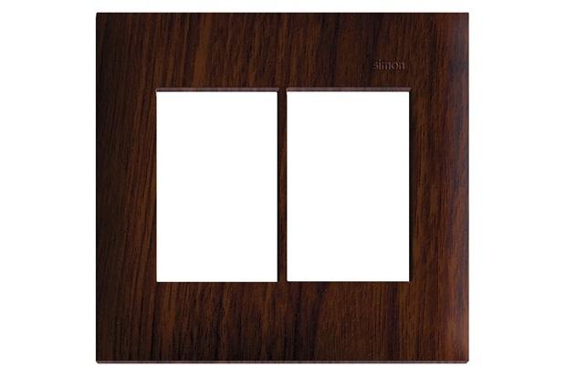 Placa 4x4 6 Postos Horizontais Simon 35 Tabaco - Simon