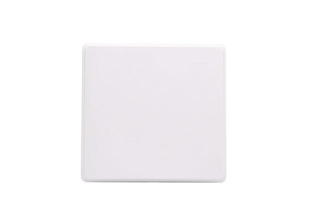 Placa 4x4 Cega com Suporte Branco S19 - Simon