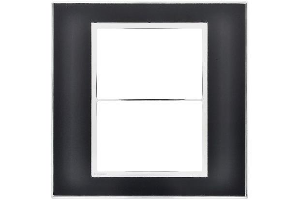 Placa 4x4 para 3+3 Postos Arteor Mirror Black  - Pial Legrand