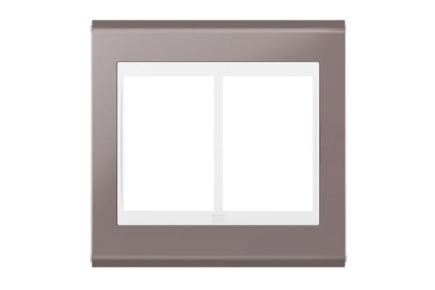 Placa 4x4 para 6 Módulos Refinatto Concept Champanhe E Branco - WEG