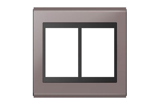 Placa 4x4 para 6 Módulos Refinatto Concept Champanhe E Preto - WEG