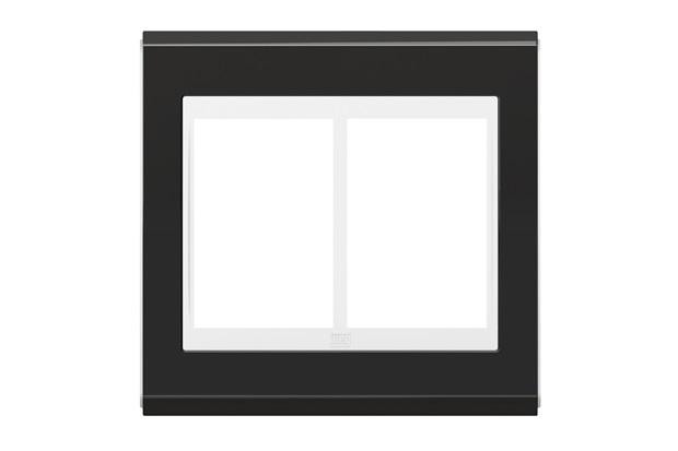 Placa 4x4 para 6 Módulos Refinatto Concept Grafite E Branco - WEG