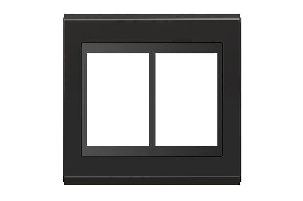 Placa 4x4 para 6 Módulos Refinatto Concept Grafite E Preto - WEG