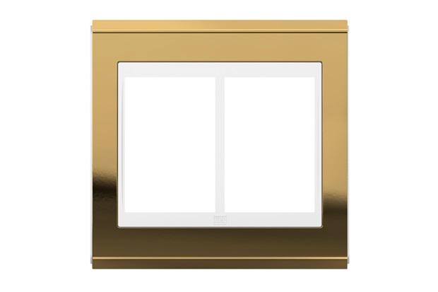Placa 4x4 para 6 Módulos Refinatto Concept Ouro E Branco - WEG