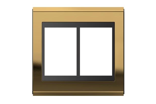 Placa 4x4 para 6 Módulos Refinatto Concept Ouro E Preto - WEG