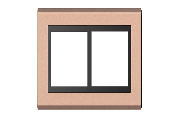 Placa 4x4 para 6 Módulos Refinatto Concept Rosê Gold E Preto - WEG
