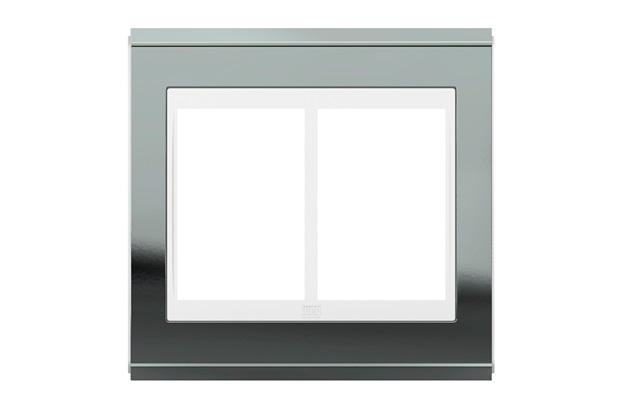 Placa 4x4 para 6 Módulos Refinatto Concept Titânio E Branco - WEG