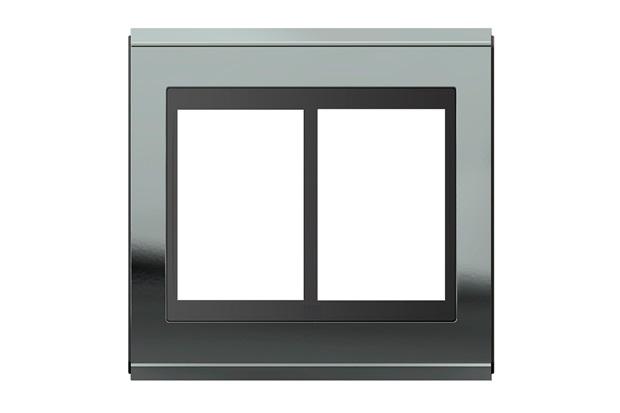 Placa 4x4 para 6 Módulos Refinatto Concept Titânio E Preto - WEG