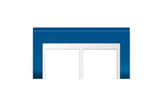 Placa 4x4 para 6 Módulos Refinatto Style Blue - WEG