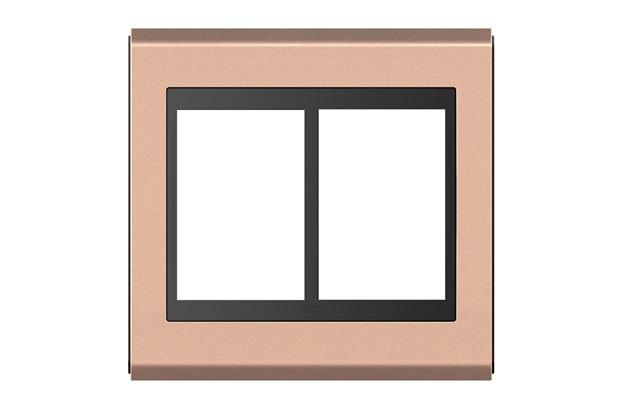 Placa 4x4 para 6 Módulos Refinatto Style Preto - WEG