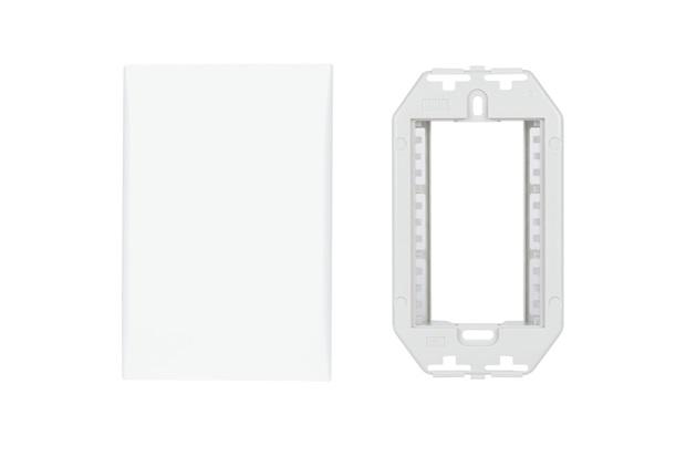 Placa Cega com Suporte 4x2 Imperia Branca - Iriel