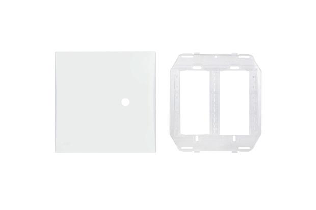 Placa Cega com Suporte 4x4 com Furo Imperia Branca - Iriel