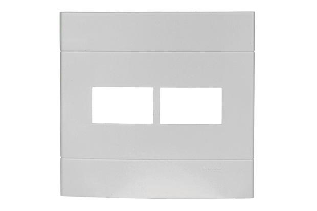 Placa com 2 Postos 4''X4'' Lunare Branca - Schneider