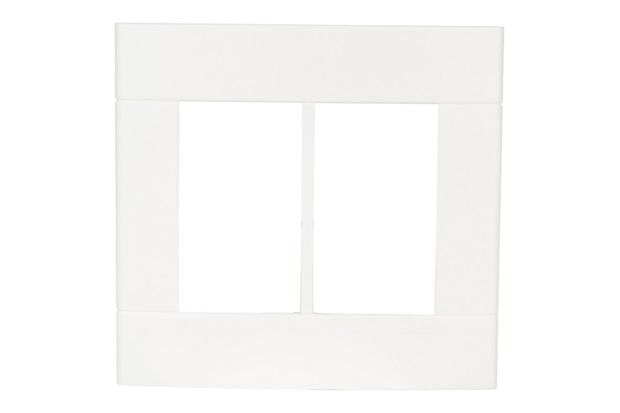 Placa com 6 Postos 4''X4'' Lunare Branca - Schneider