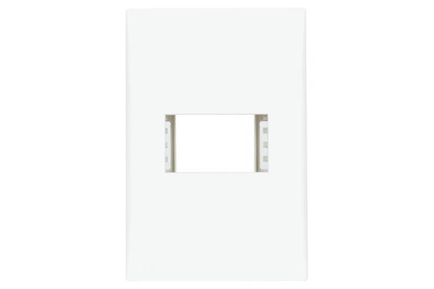 Placa com Suporte 4x2 1 Módulo Imperia Branca - Iriel