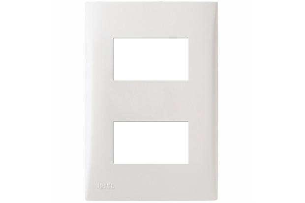 Placa com Suporte 4x2 2 Módulos Separados Imperia Branca - Iriel